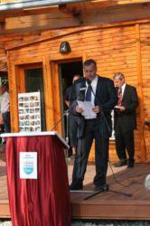 Predstavnik Ministrstva za okolje in prostor, Janez Kastelic, je poudaril pomen novega centra za varstvo narave in območje Nature 2000.