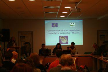 Predstavitev projekta na Evropski konferenci o evrazijski vidri v Moravskih toplicah (2008).