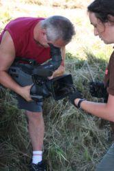 Vse aktivnosti smo posneli s kamero za informativni film o vidri na Goričkem in projektu.