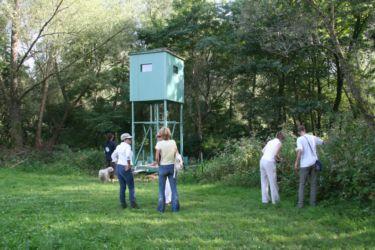V Rogašovcih smo postavili mobilno opazovalnico za vidro in druge živali.